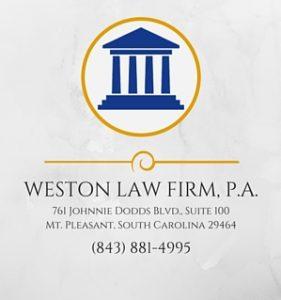 Weston LawFirm placard logo