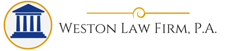 sticky header logo Weston Law Firm